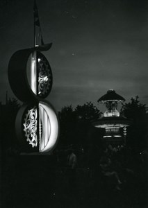 Canada Toronto Canadian National Exhibition at Night Old Photo 1950
