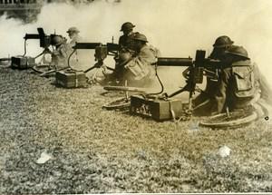 USA Richmond Pine Camp Military Maneuvers Machine Gun Old Photo 1939