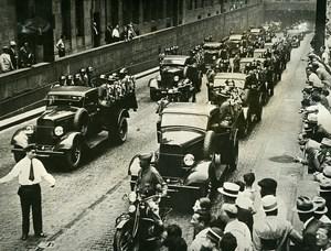 USA New York Manhattan Military Maneuvers 18th Infantry Regiment Old Photo 1935
