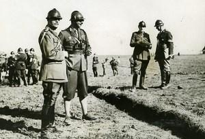 Romania Military Maneuvers King Carol II in Uniform Old Photo 1935
