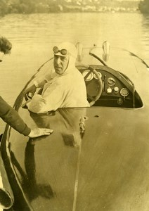 France Herblay Etchegoin Speedboat Sadi VIII Race Old Photo 1932