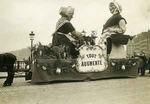 France Paris Mid Lent Carnival Parade Decorated Float Old Photo Rol 1912