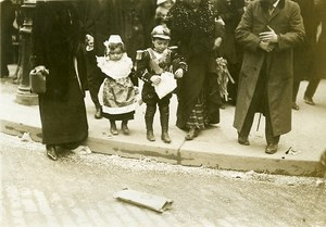 France Paris Shrove Tuesday Animated Children Mars & Venus Old Photo Rol 1912