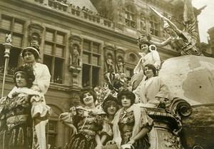 France Paris Mid Lent Parade Float Queen of Queens Old Photo Rol 1912