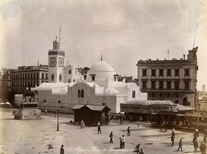 Algeria Algiers Government Square Animated Beer Mosser Old Photo 1890