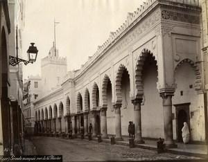 Algeria Algiers Great Mosque rue de la Marine Old Photo 1890