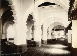 Algeria Algiers Great Mosque Interior Old Photo 1890