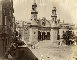 Algeria Algiers Cathedral & Governor Palace Old Photo 1890