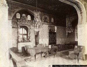 Algeria Algiers Governor Palace Interior Sitting Room Old Photo 1890