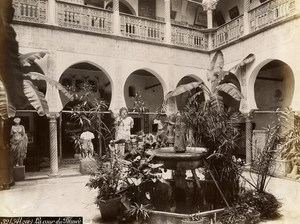 Algeria Algiers Museum Interior Patio Old Photo 1890