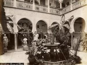 Algeria Algiers Museum Interior Patio Old Photo 1890