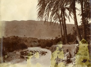 Algeria Sahara Oasis Mountain Old Photo 1890