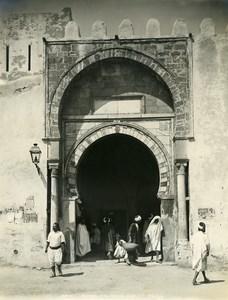 Tunisia Kairouan Door of Tunis Old Photo Neurdein 1900