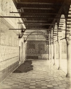 Tunisia Kairouan Inside the Barber Mosque Old Photo Garrigues 1890