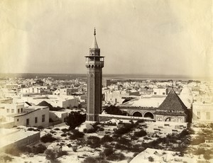 Tunisia Tunis Panorama Old Garrigues Photo 1890