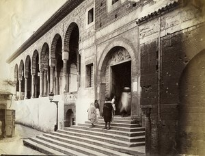 Tunisia Tunis Steps of Great Mosque Old Photo Garrigues 1890