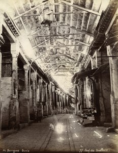 Tunisia Tunis Souk Bazaar of Tailors Old Photo Garrigues 1890