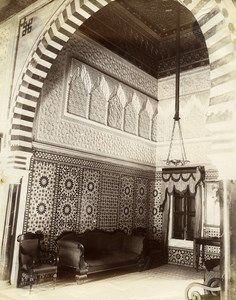 Tunisia Tunis Dar el Bey Room Psyches Old Photo Garrigues 1890