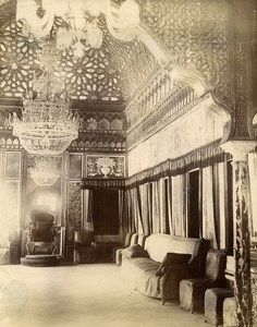 Tunisia Tunis Hall of Mirrors at Bardo Palace Old Photo Garrigues 1890