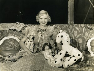 Una Merkel with Jean Parker's toys MGM Photo 1932