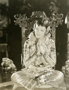 Mirna Loy in Chinese Costume MGM Photo 1932