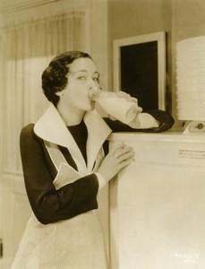 Maureen O'Sullivan drinks milk every day MGM Photo 1932