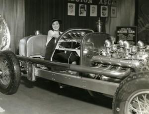 Maureen O'Sullivan sitting in a car Harry Miller Racing MGM Photo 1932