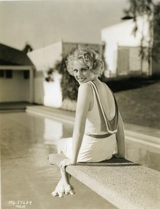 Esther Ralston preparing to dive into pool MGM Photo 1932