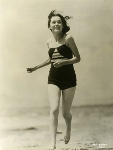 Maureen O'Sullivan on the beach in Santa Monica MGM Photo 1932