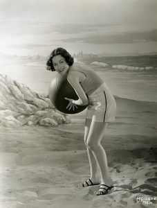 Maureen O'Sullivan two piece bathing suit MGM Photo 1932