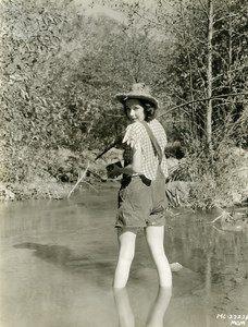 Maureen O'Sullivan goes fishing MGM Photo 1932