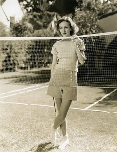 Karen Morley plays a game of badminton MGM Photo 1932
