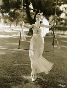 Karen Morley swaying on the swing MGM Photo 1932
