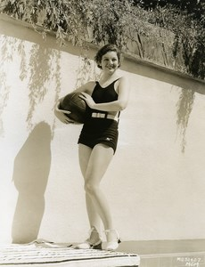 Myrna Loy taking a sun bath MGM Photo 1932