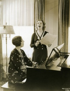 Jeanette MacDonald taking singing lesson with Grace Newell MGM Photo 1932