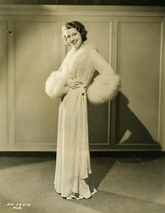 Jeanette MacDonald wearing Exquisite Negligee MGM Photo 1932