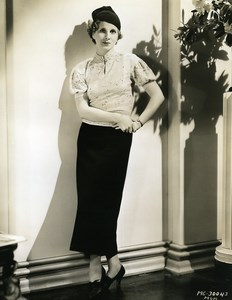 Diana Wynyard wearing comfortable Sportswear Fashion MGM Photo 1932