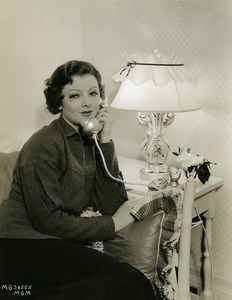 Myrna Loy calling in her box MGM Photo 1932