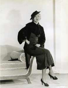 Una Merkel wearing elegant Autumn Sportswear Fashion MGM Photo 1932
