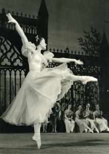France Aix les Bains Dance Miss Medina in Esmeralda Old Photo PIC 1956
