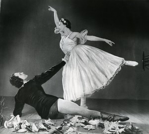 France Bolshoi Giselle Dance Galina Oulanova Old Photo Bernand 1958