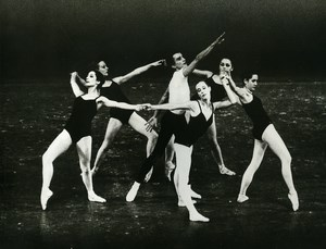 France Ballet of Great Theater Geneva Webern Balanchine Old Photo Humbert 1960
