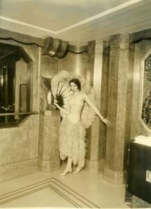 Ocean Liner Ile de France Dancer Old Photo 1930