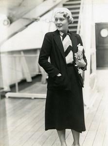 Ocean Liner Ile de France Vilma Banky Miss Rod La Rocque Old Photo 1932