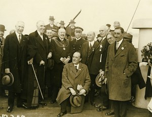 Ocean Liner Ile de France Captain Blancart Plymouth Mayor Mitchell Photo 1930