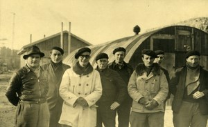 France Dieppe Rehabilitation Work Workers Group Old Photo 1947