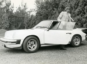 Football Player Gilbert Van Binst Porsche Car Elegant Man Old photo 1985