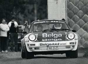 Porsche Belga Team RAS Sport STREE Reginster Biar Old photo 1985