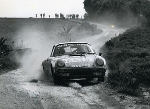 Porsche 911 Rallye Patrick Snijers Colebunders Bastos Old photo 1983