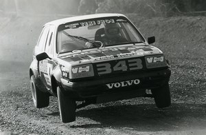 Belgium Rallye Race Car Volvo 343 Old Photo Vanderhaegen 1982